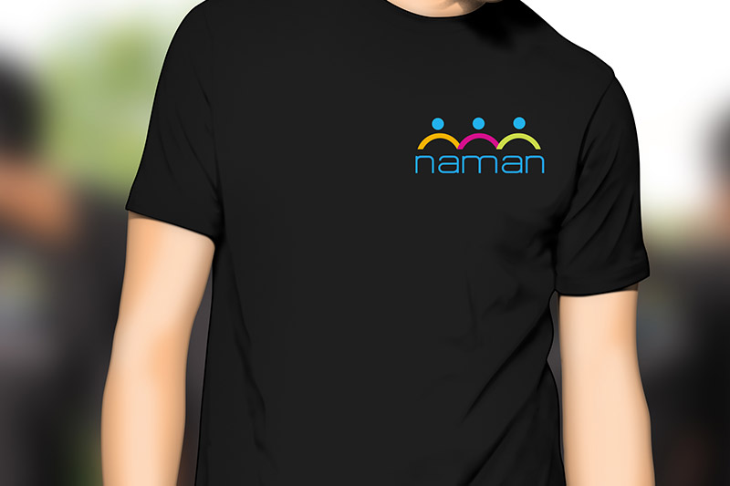 Logo design and T-shirt concept for Naman-1