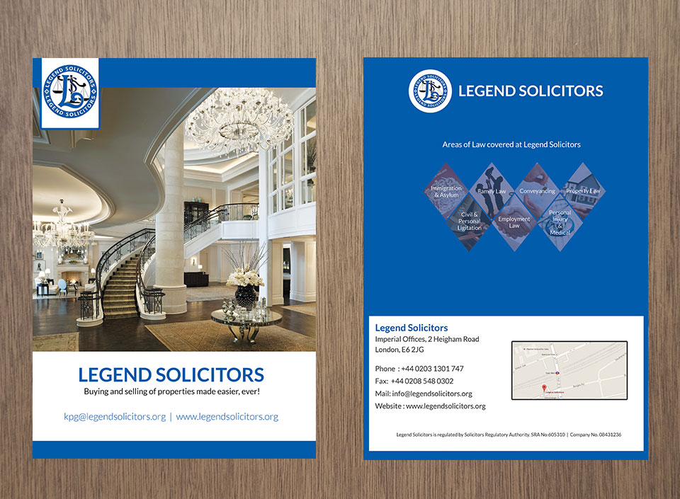 Brochures and flyer design for Legend-1