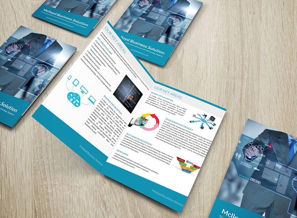 Brochures and flyer design for Mclloyd-1