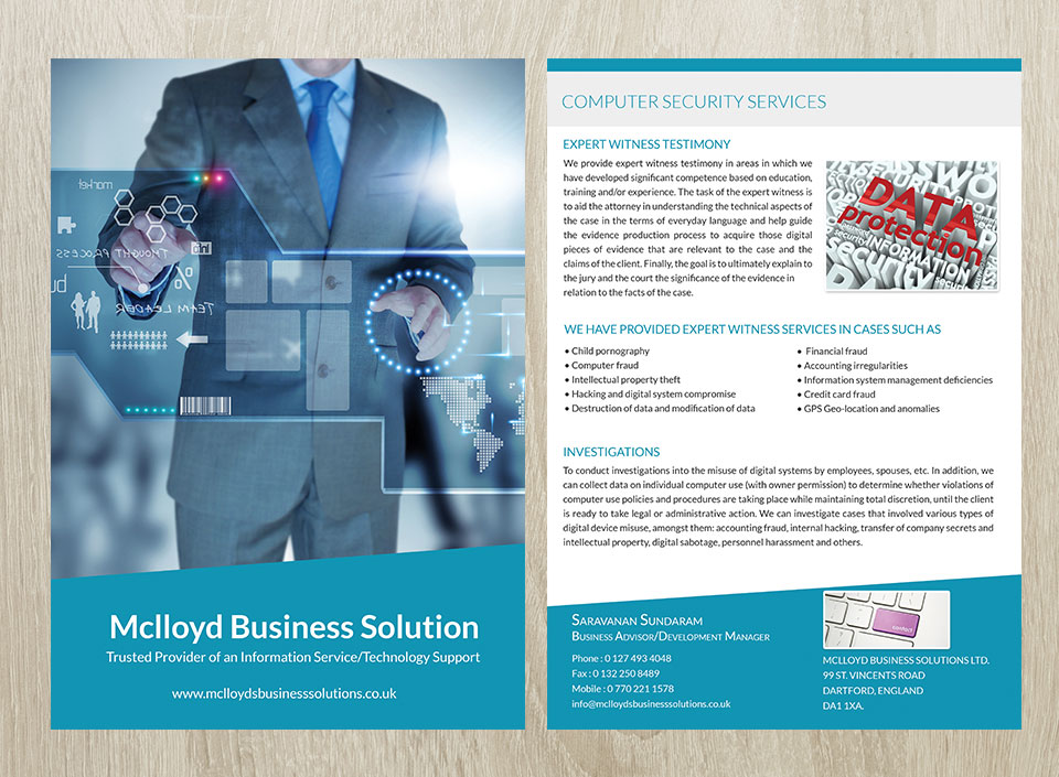 Brochures and flyer design for Mclloyd-2