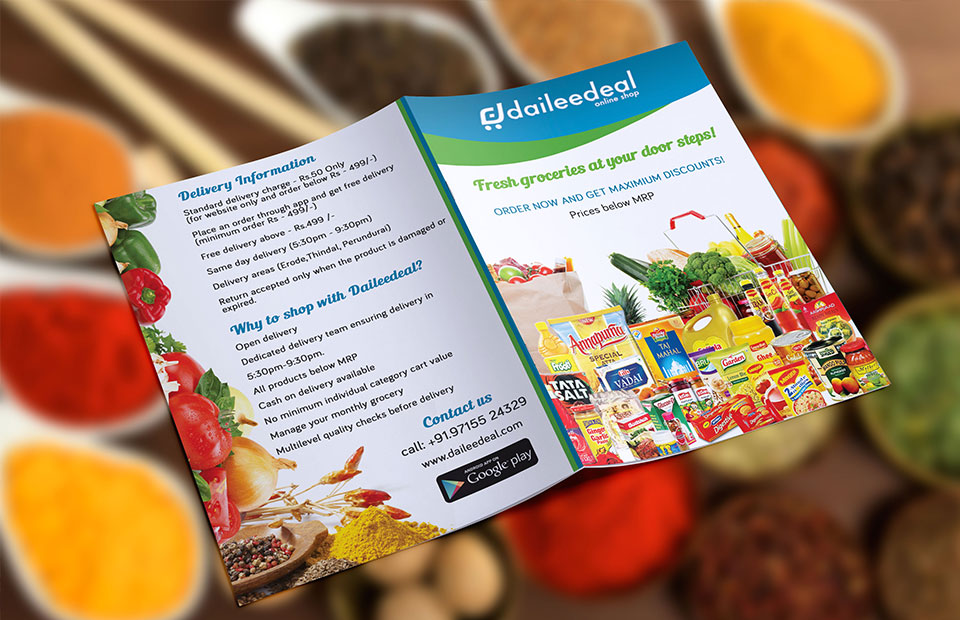 Brochures and flyer design for Daileedeal-2