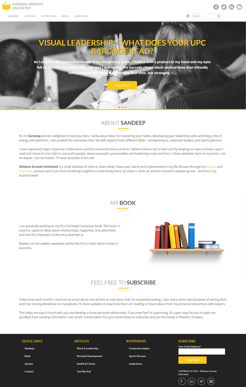 Wordpress & Branding for Wizgro-3