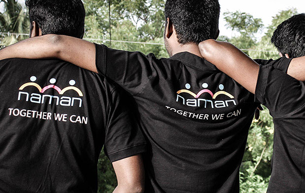 Logo design and T-shirt concept for Naman