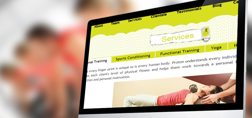 Website Design for Protonfit