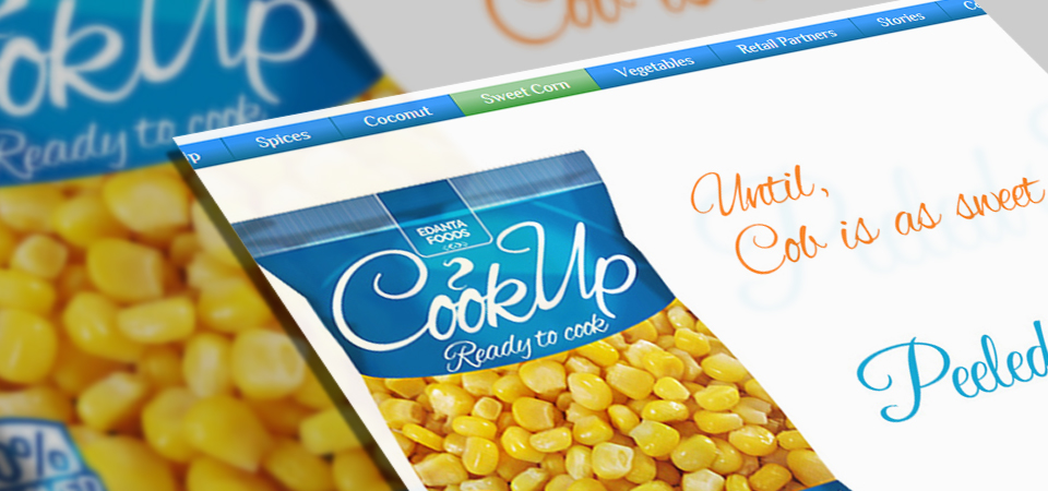 Website design and UI for Cookup