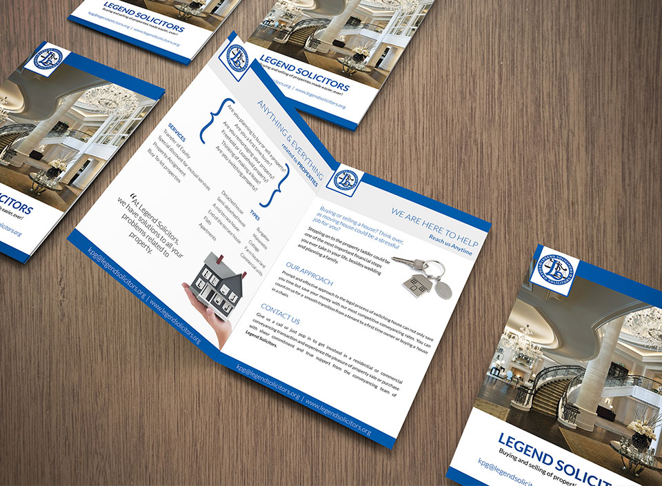 Brochures and flyer design for Legend