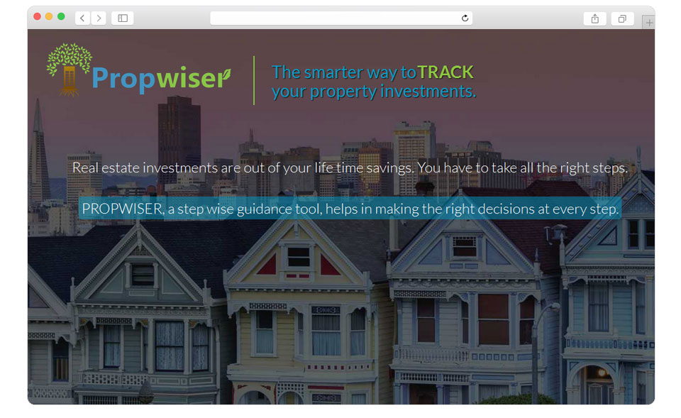 Website design & UI, UX for Propwiser