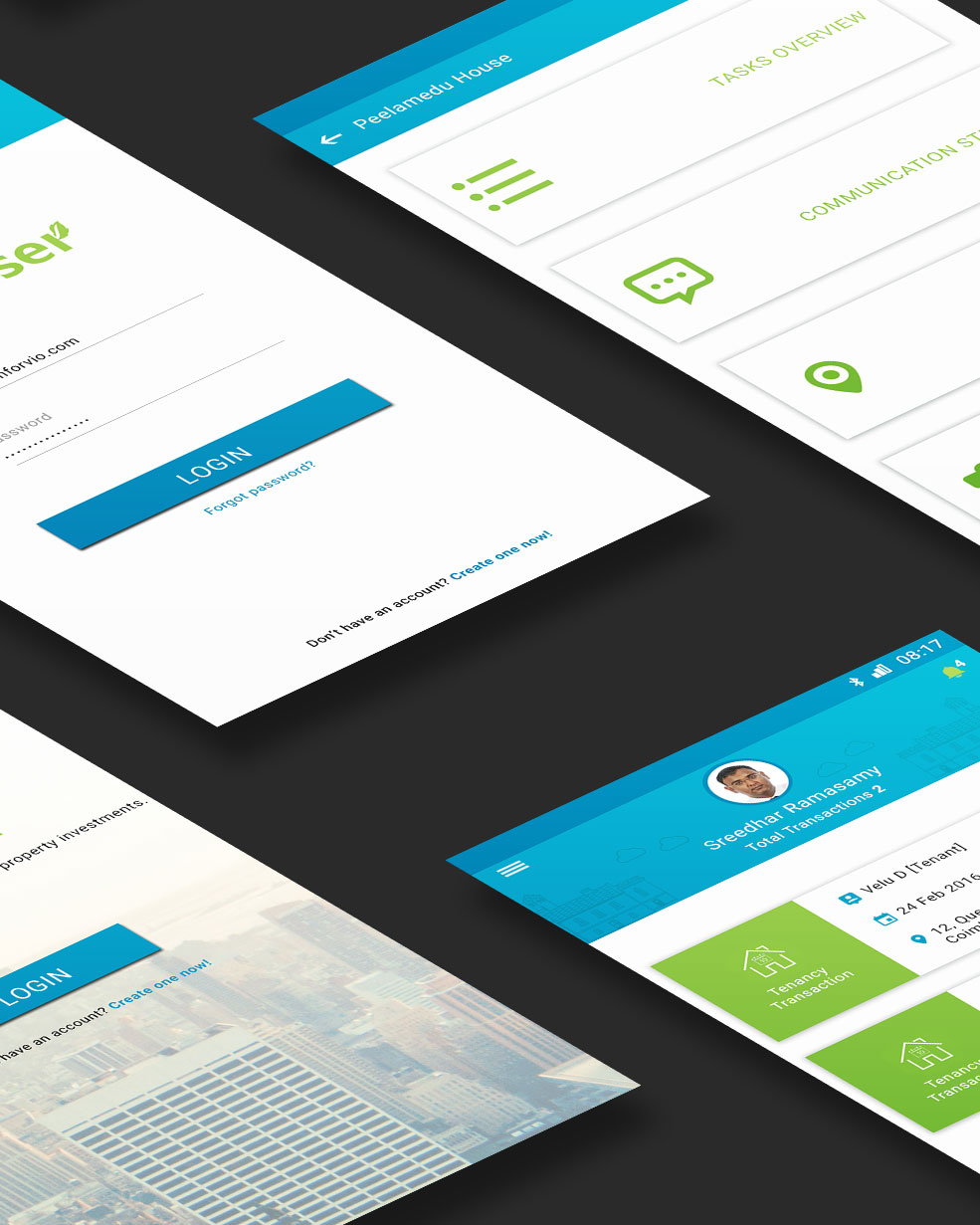 UI, UX and Mobile app mockup for Propwiser